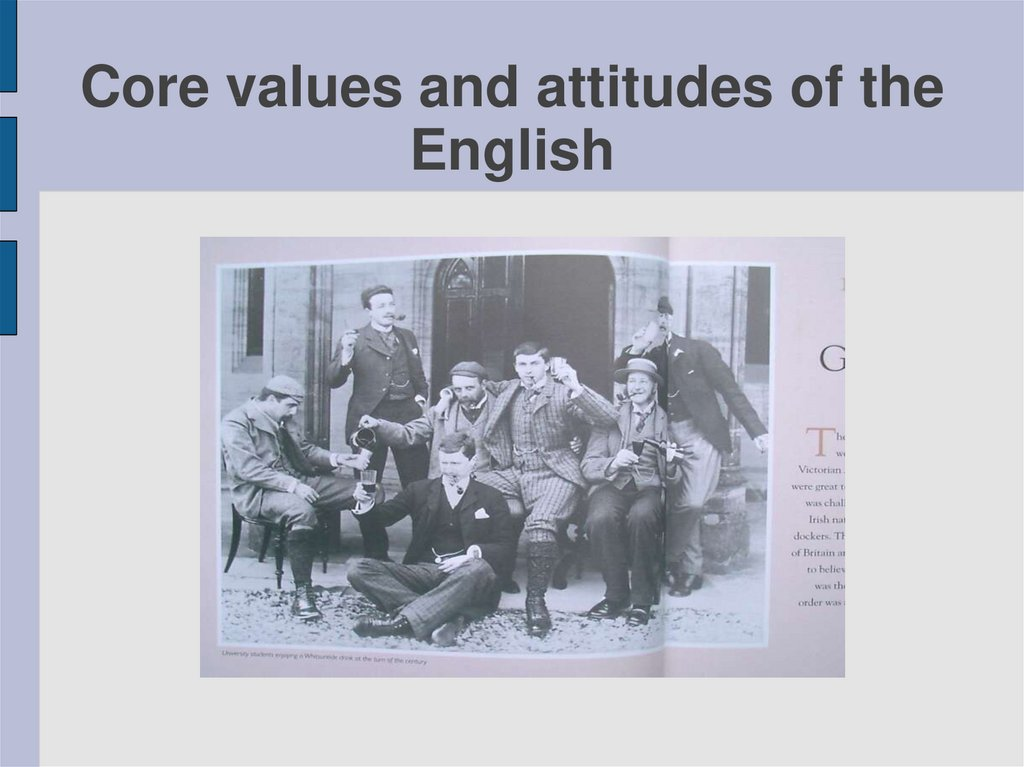 Core values and attitudes of the English