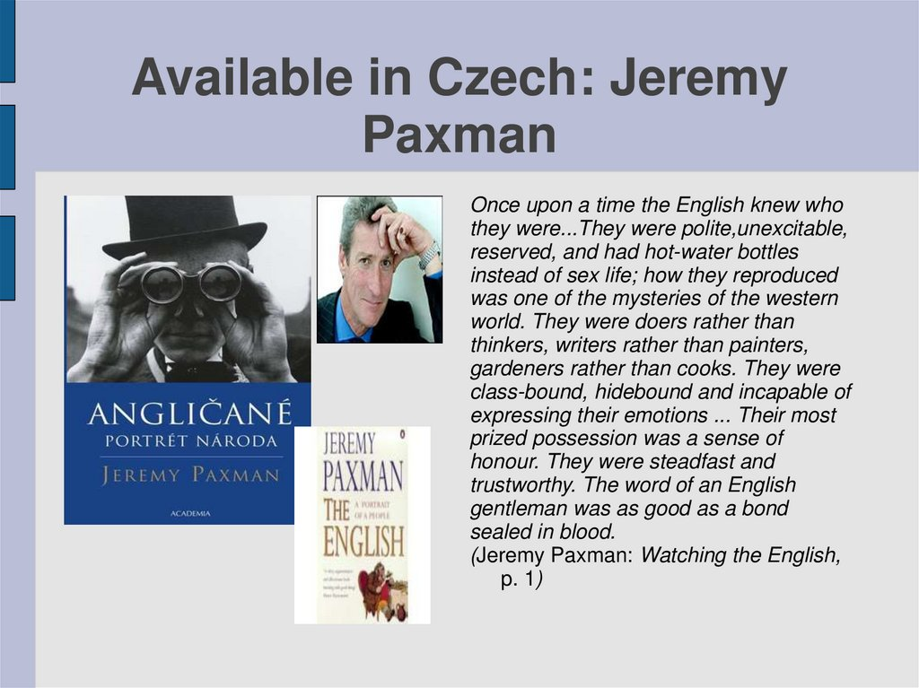 Available in Czech: Jeremy Paxman