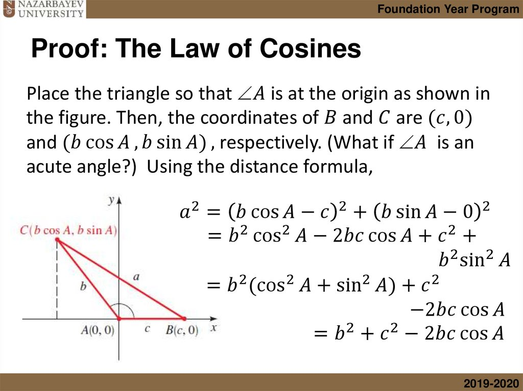 Proof: The Law of Cosines