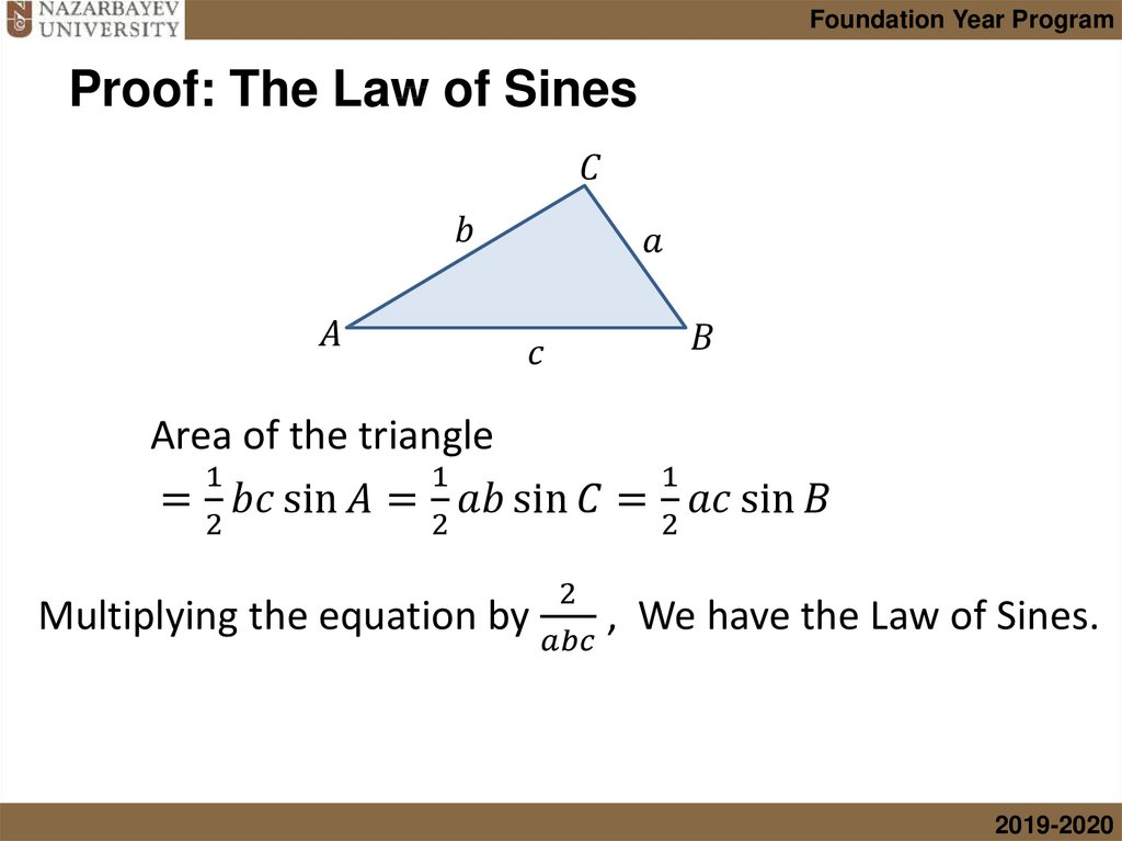 Proof: The Law of Sines