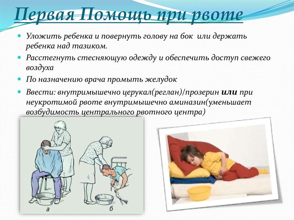 инструкция - первая помощь при рвоте ребенку