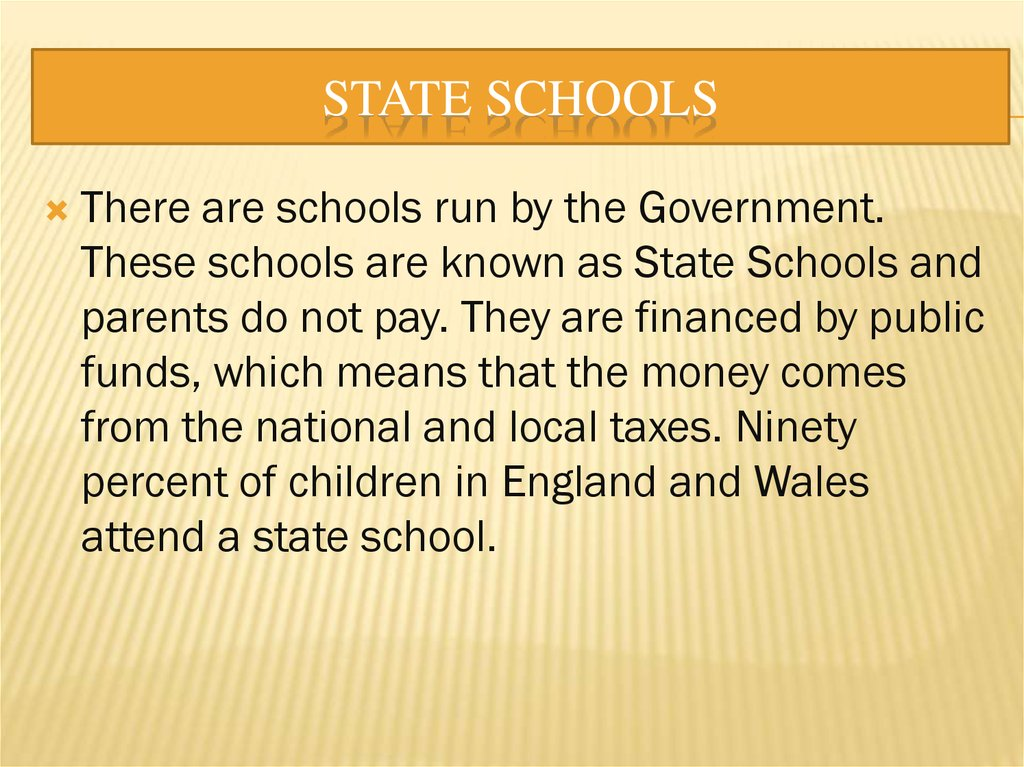 State Schools