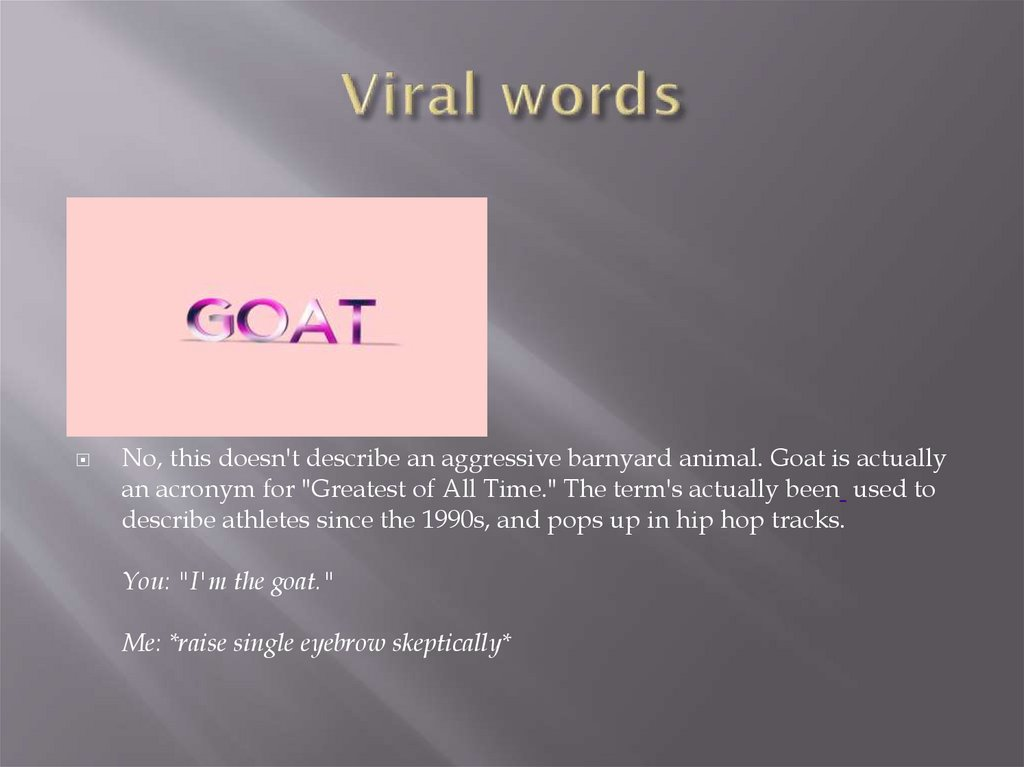 Viral words