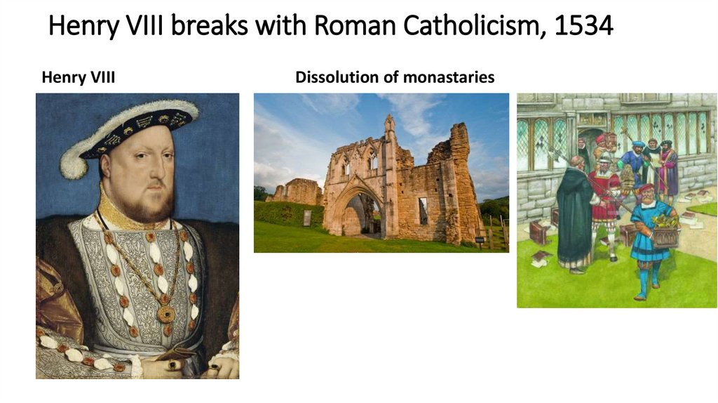 Henry VIII breaks with Roman Catholicism, 1534