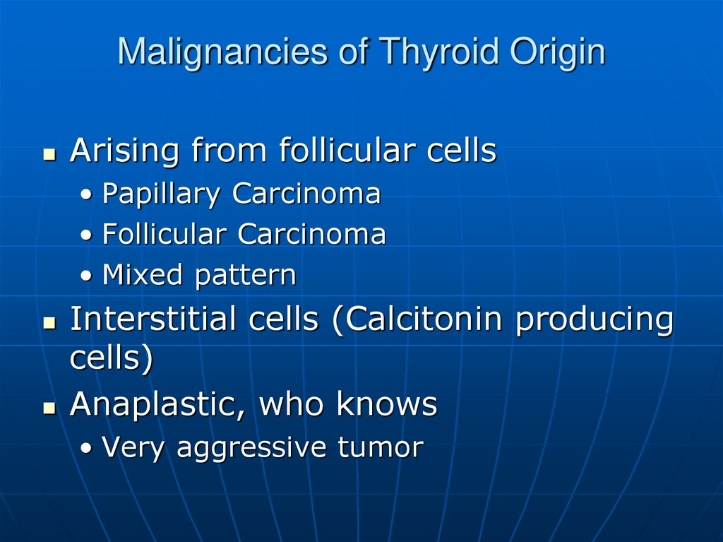 Malignancies of Thyroid Origin