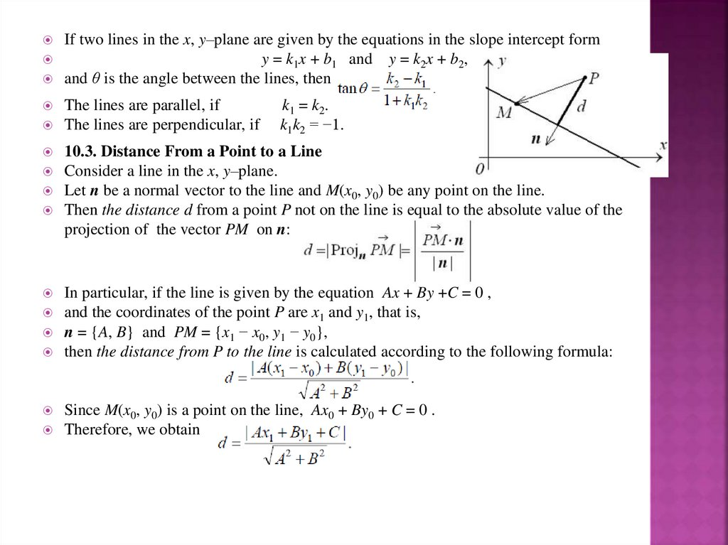 Line In The Plane Lecture 10 Online Presentation We can determine the equation of the line by using the slope formula with points p and q. line in the plane lecture 10 online