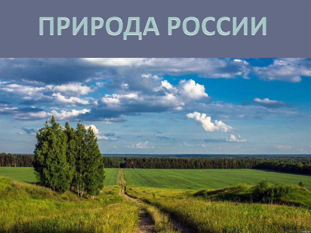 Презентация в картинках россия природа