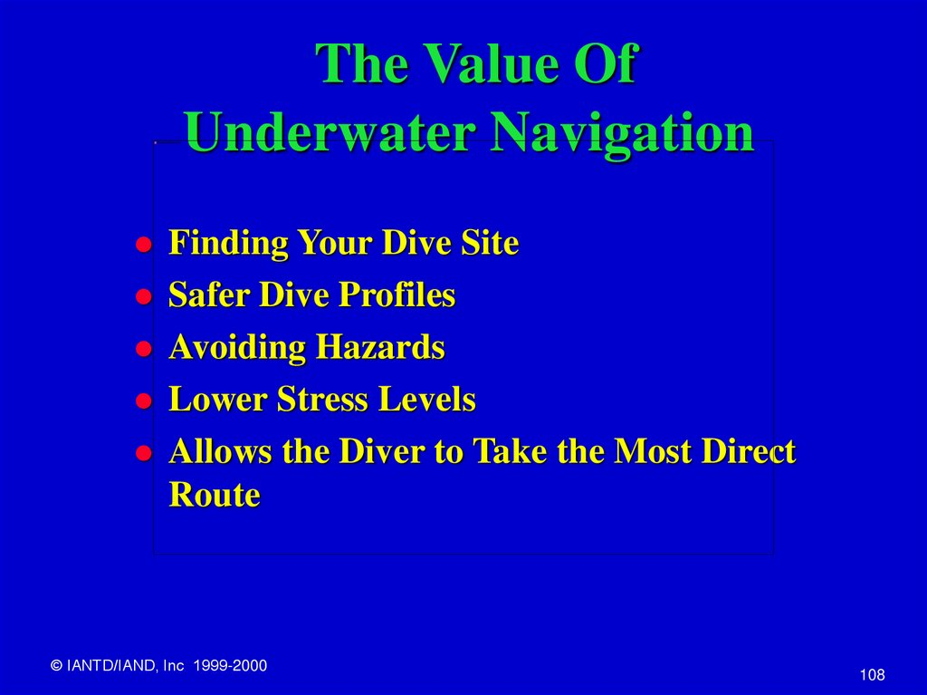 The Value Of Underwater Navigation