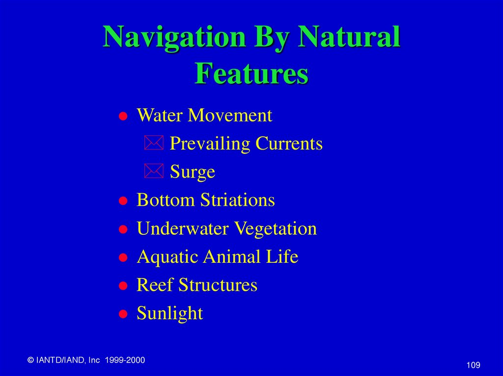 Navigation By Natural Features