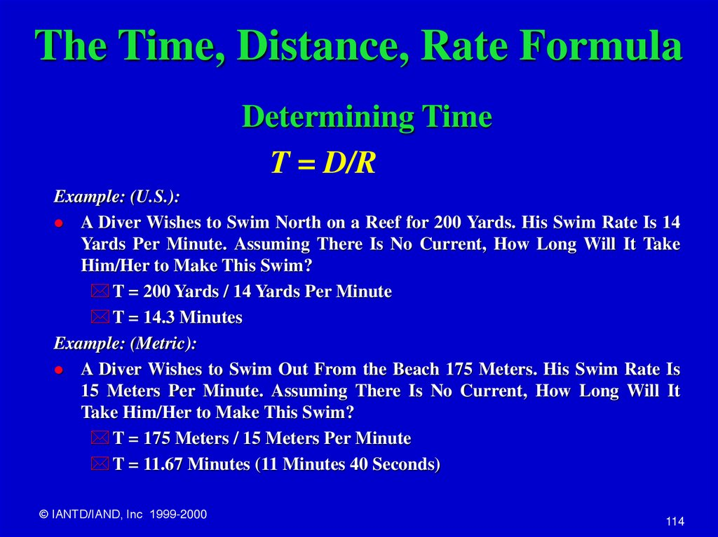 The Time, Distance, Rate Formula