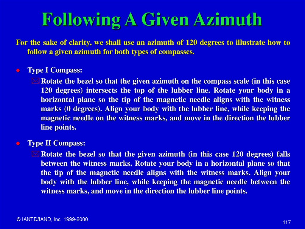 Following A Given Azimuth