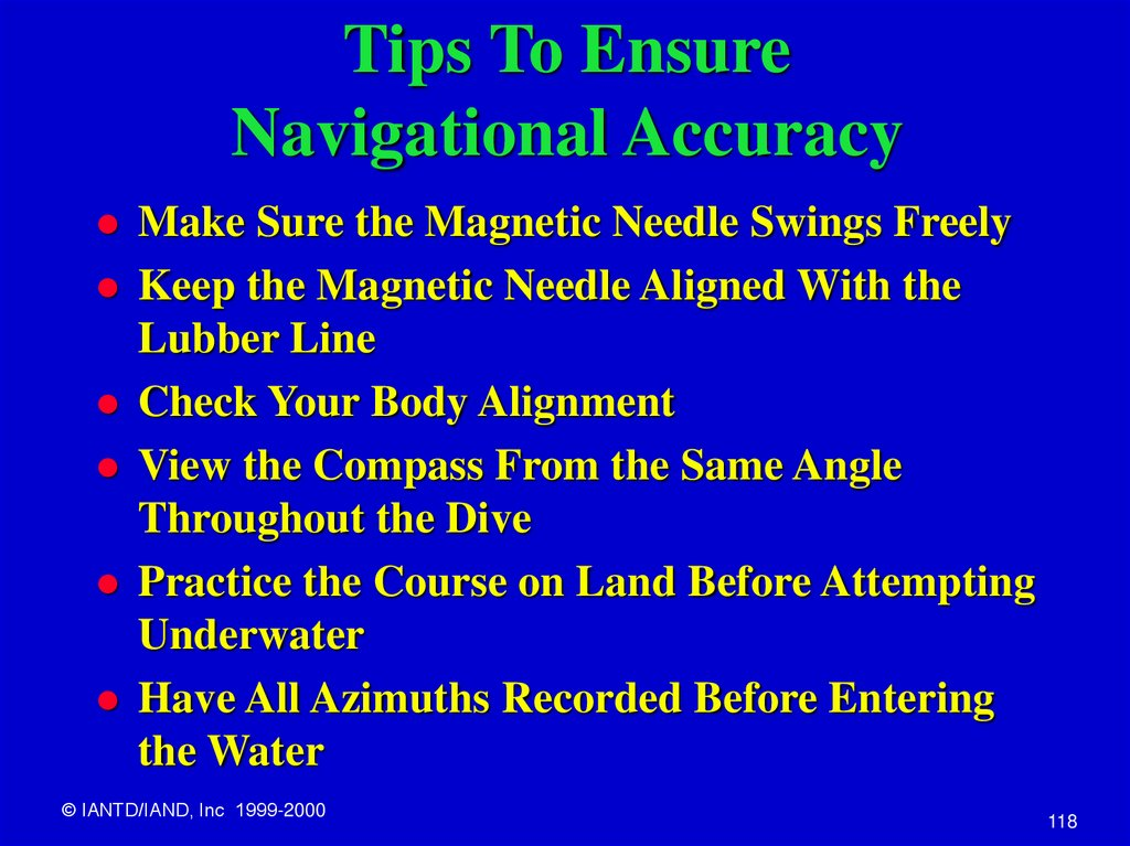 Tips To Ensure Navigational Accuracy