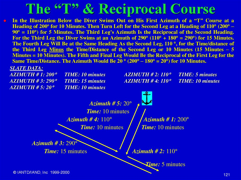 "The ""T"" & Reciprocal Course"