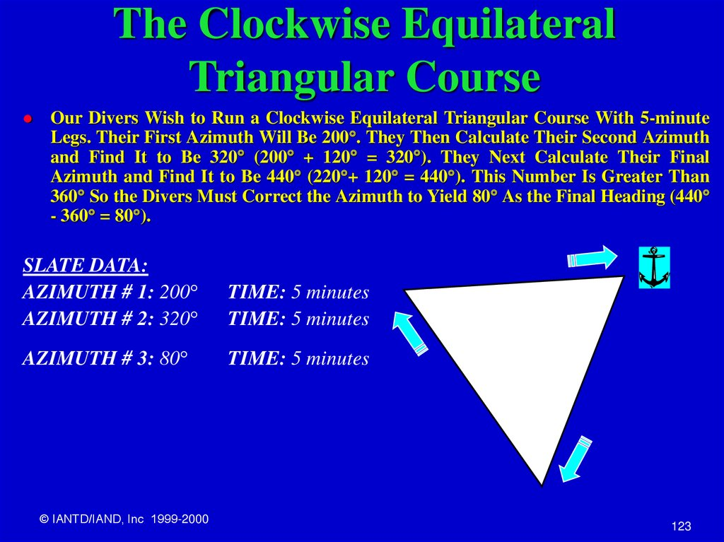 The Clockwise Equilateral Triangular Course