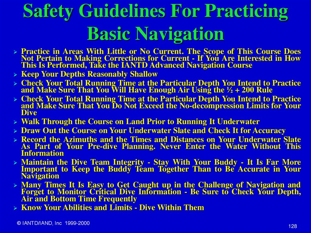 Safety Guidelines For Practicing Basic Navigation