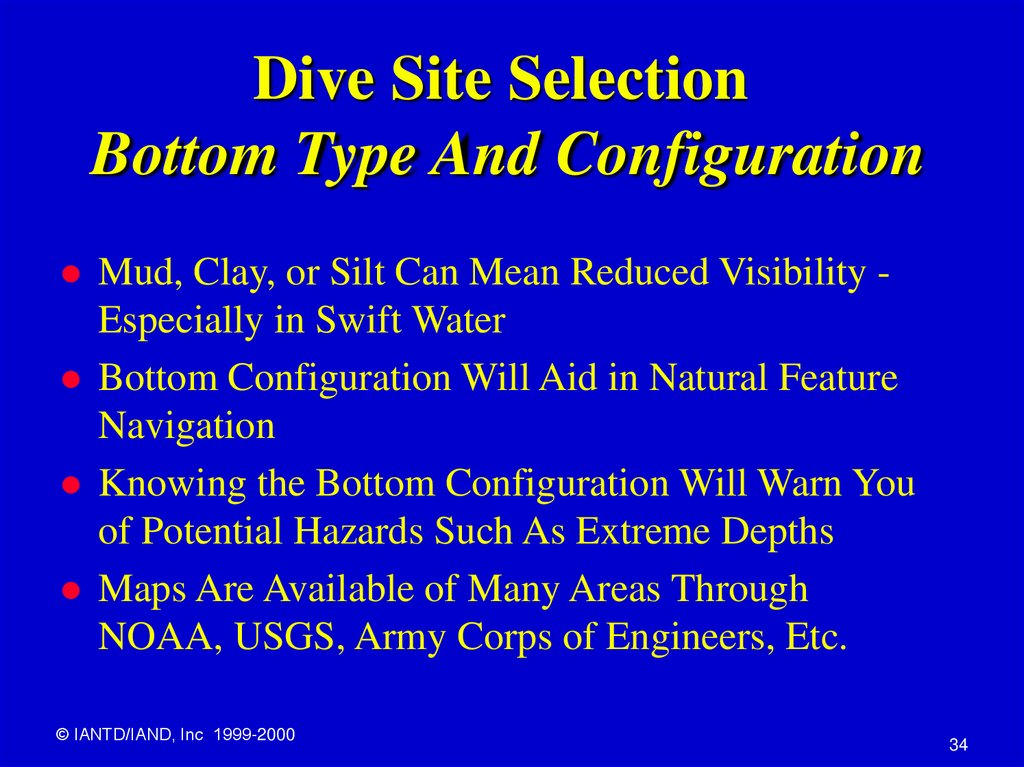 Dive Site Selection Bottom Type And Configuration