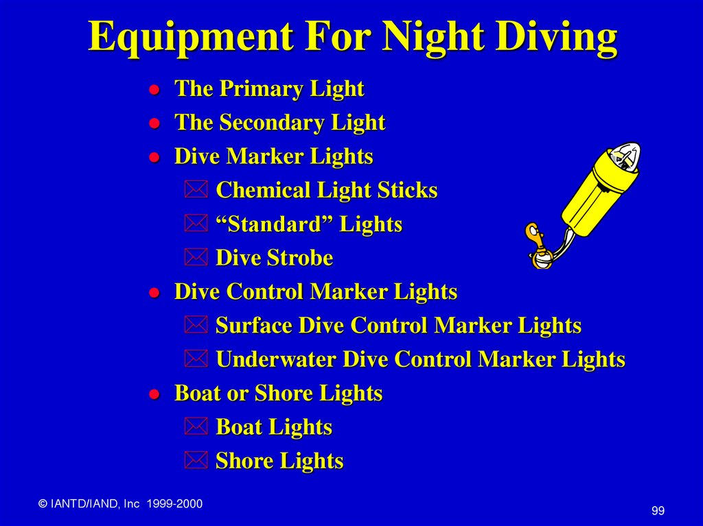 Equipment For Night Diving