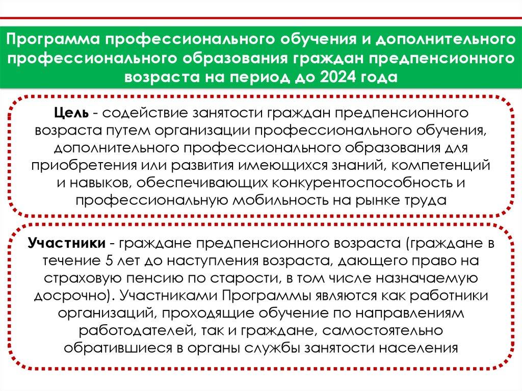 О обучении лиц предпенсионного возраста pfrf ru пенсионный фонд официальный личный кабинет зарегистрироваться сайт