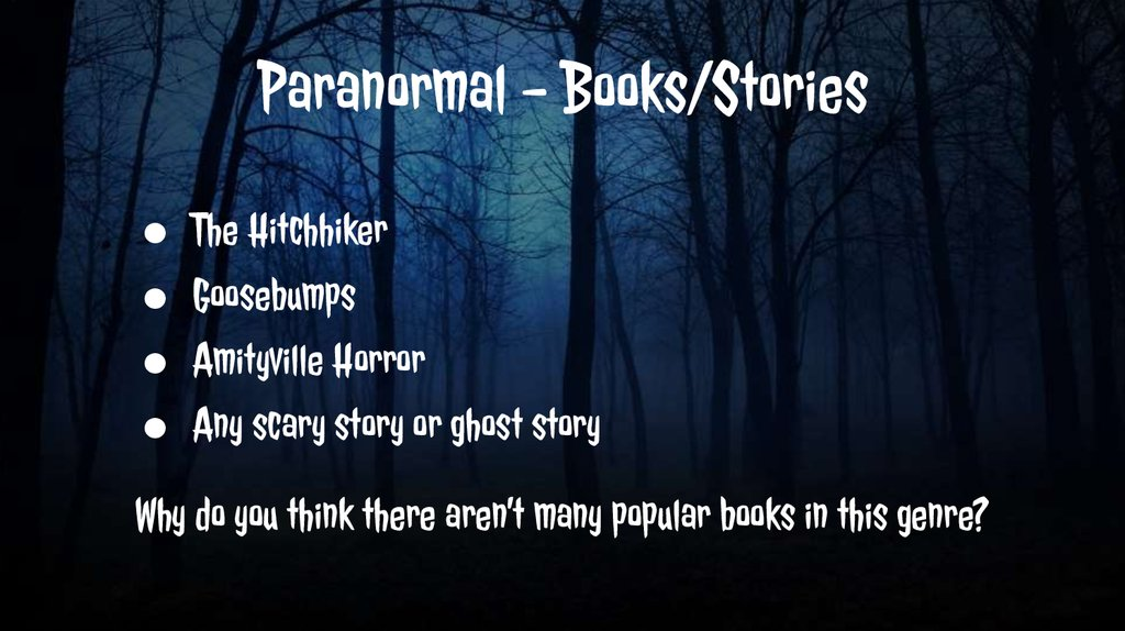 Paranormal - Books/Stories