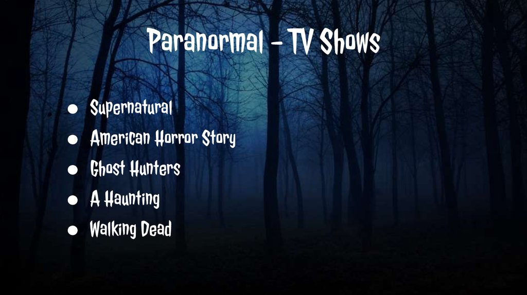 Paranormal - TV Shows