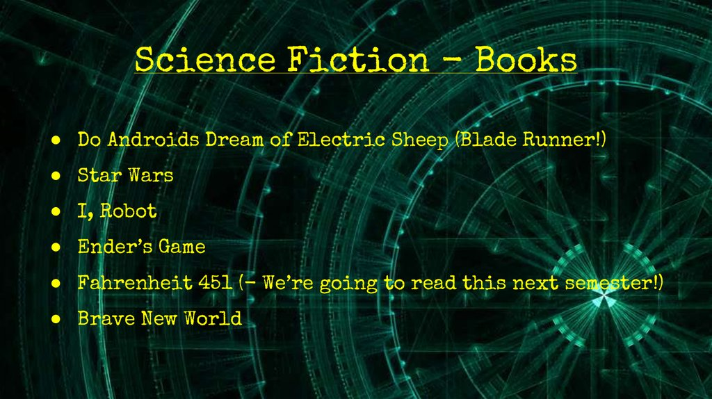 Science Fiction - Books