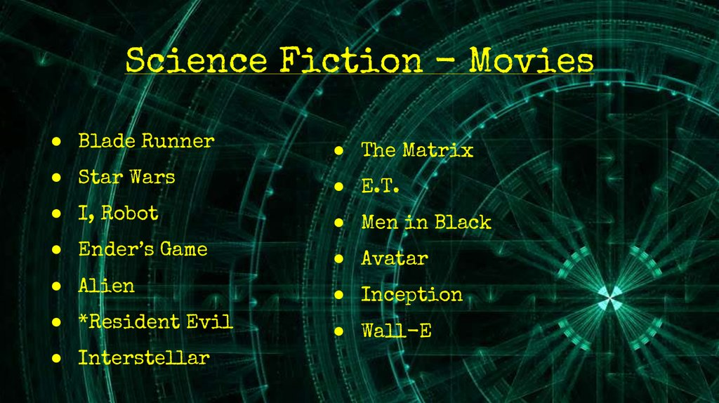 Science Fiction - Movies