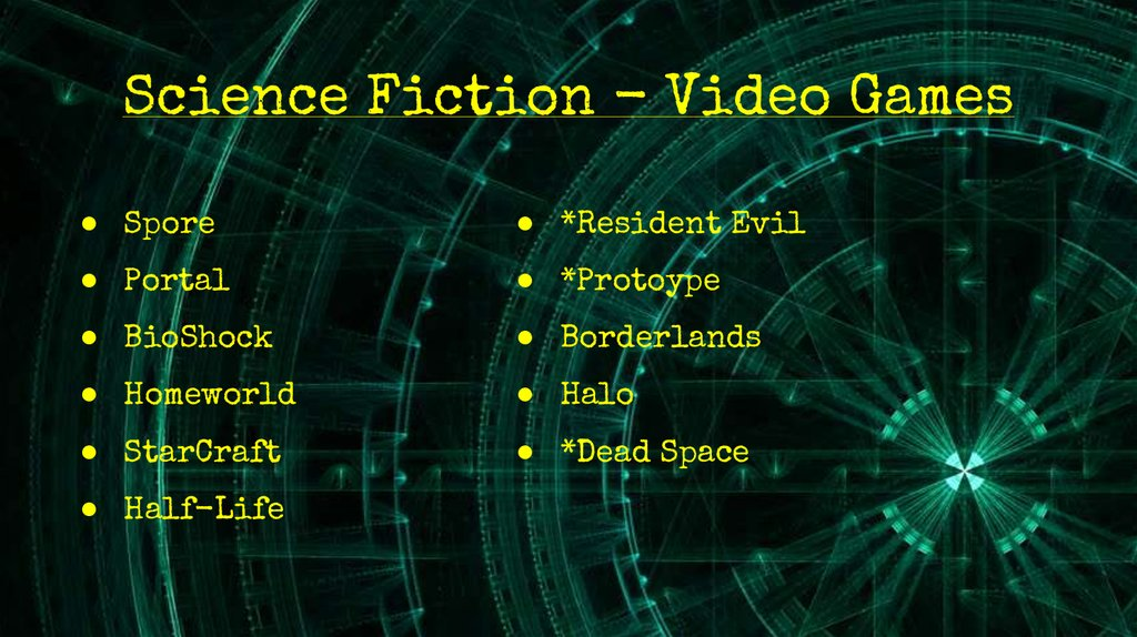Science Fiction - Video Games