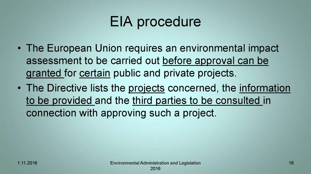 EIA procedure