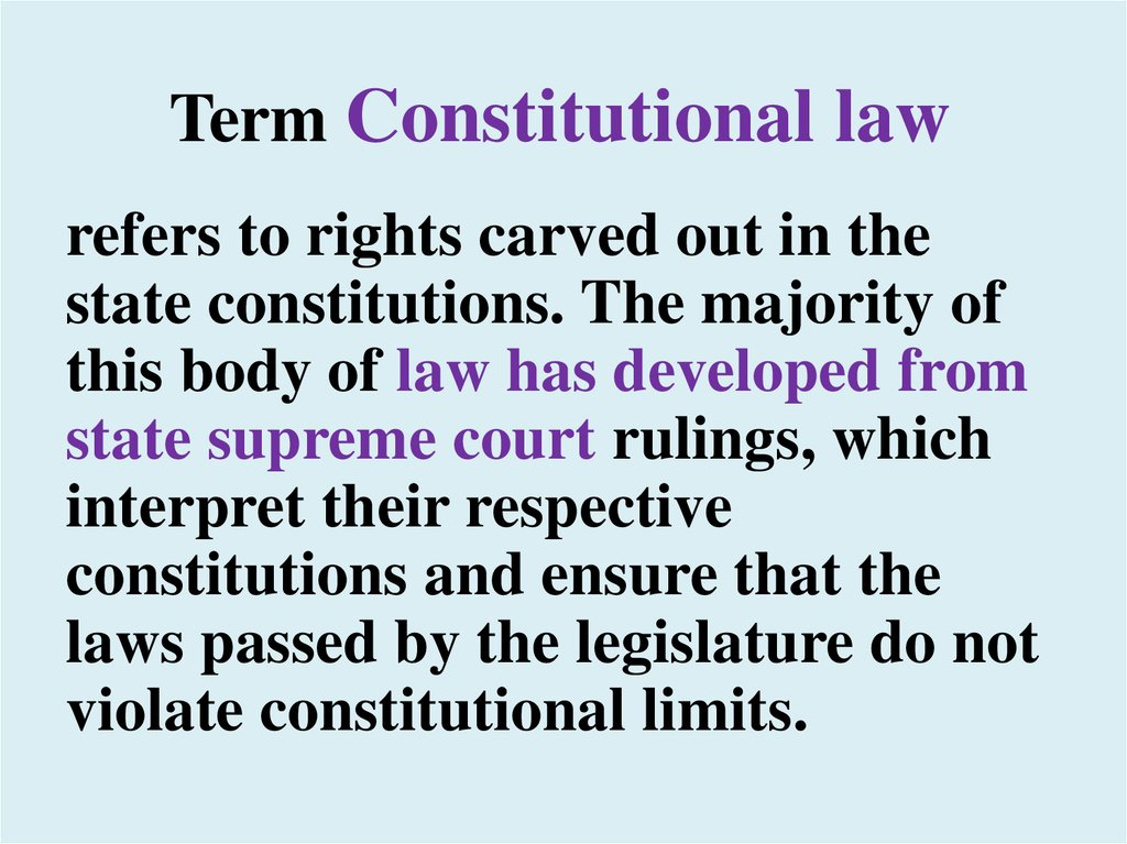 Term Constitutional law
