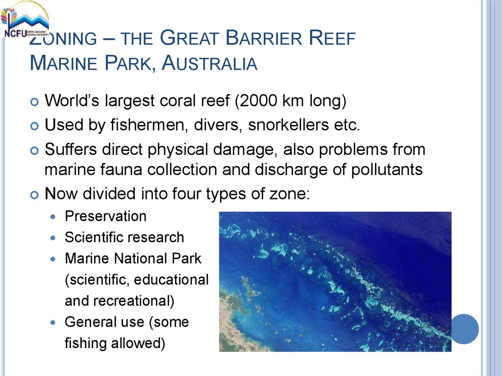ZONING – THE GREAT BARRIER REEF MARINE PARK, AUSTRALIA