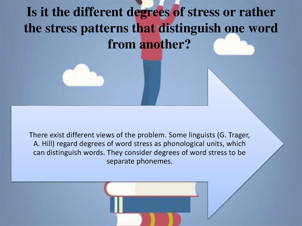 Is it the different degrees of stress or rather the stress patterns that distinguish one word from another?