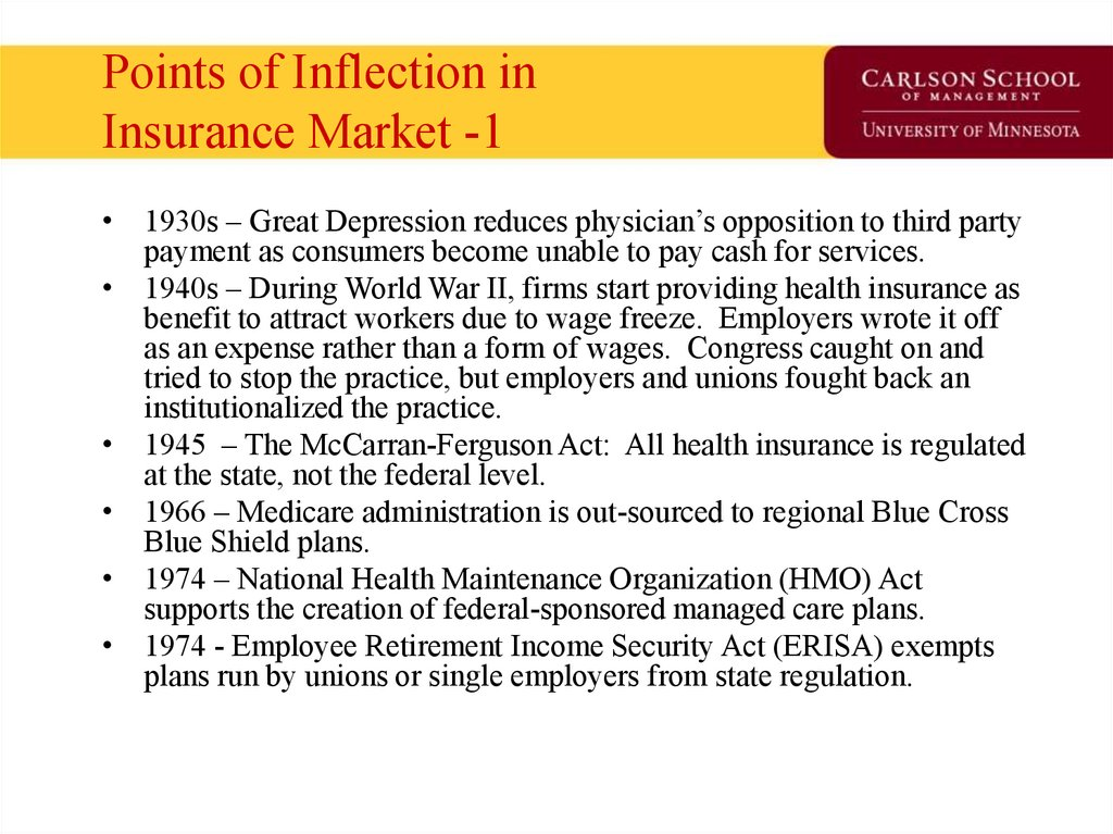 Points of Inflection in Insurance Market -1