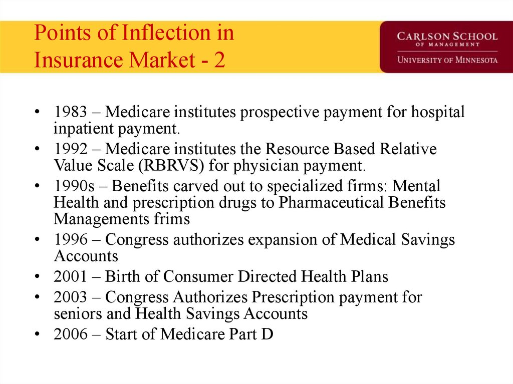 Points of Inflection in Insurance Market - 2