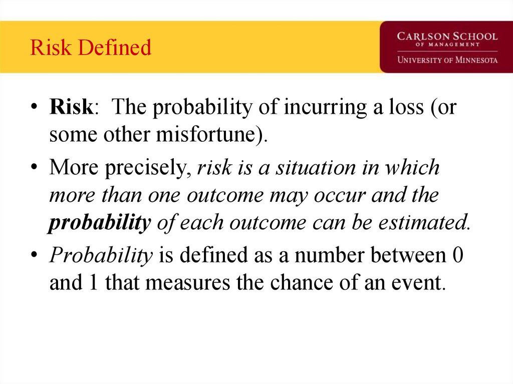 Risk Defined