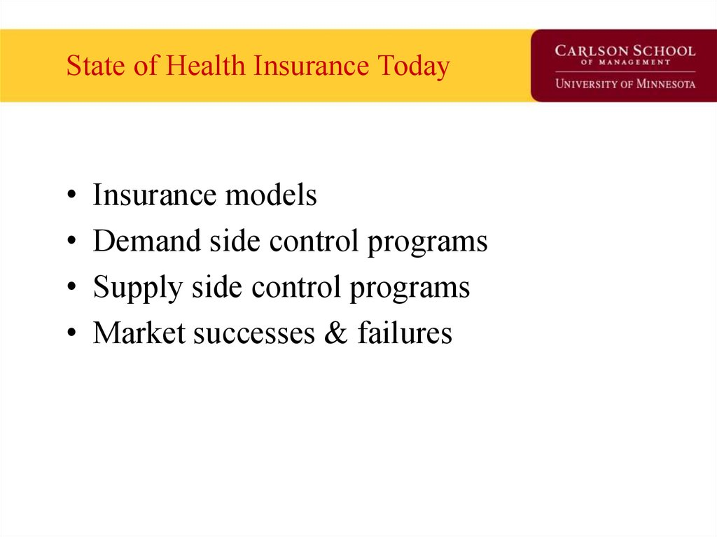 State of Health Insurance Today