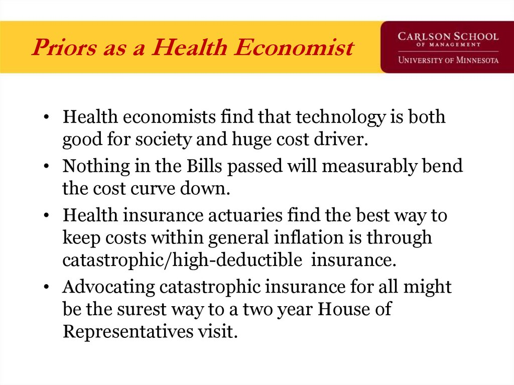 Priors as a Health Economist
