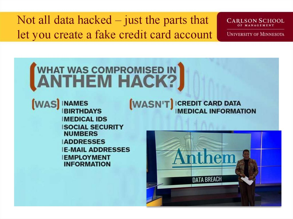 Not all data hacked – just the parts that let you create a fake credit card account