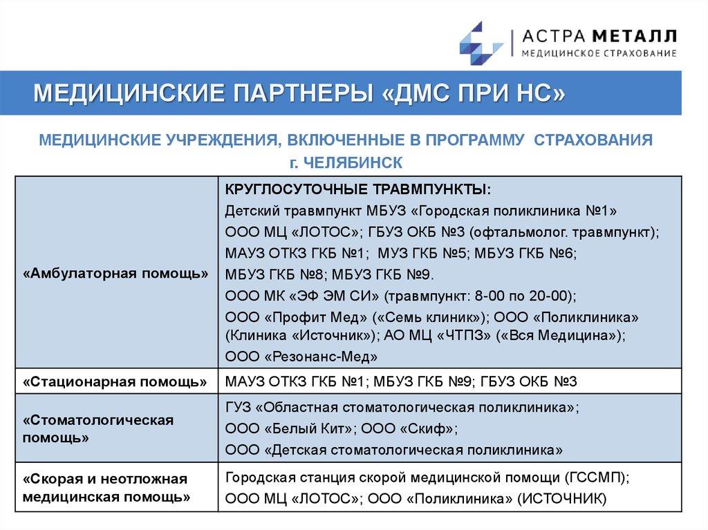 медицинское страхование металл