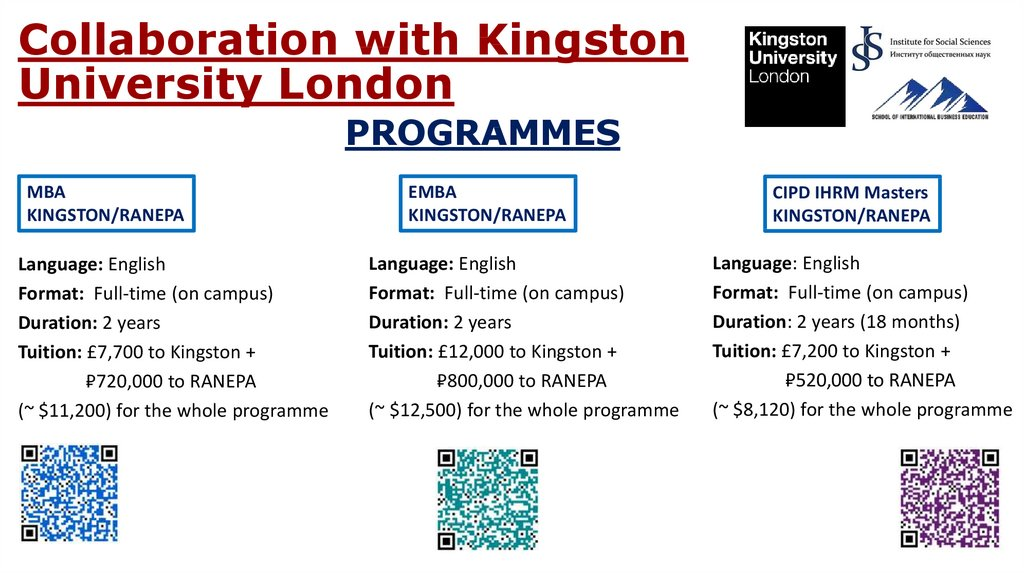 Collaboration with Kingston University London