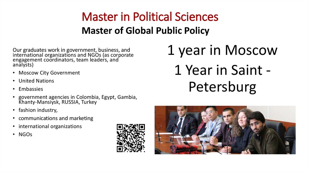 Master in Political Sciences