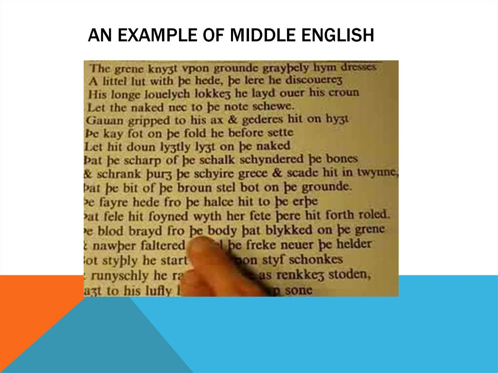 An example of Middle English