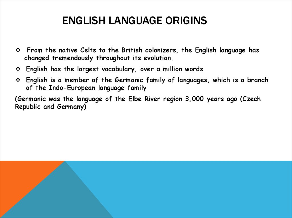 English Language Origins