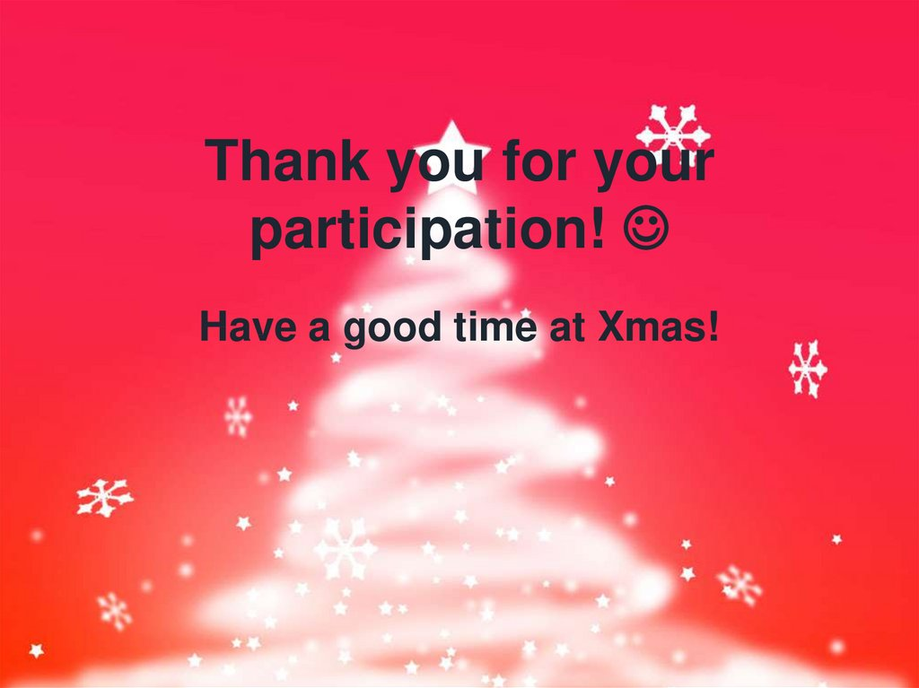 Thank you for your participation! 