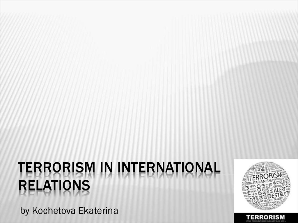 Terrorism in international relations