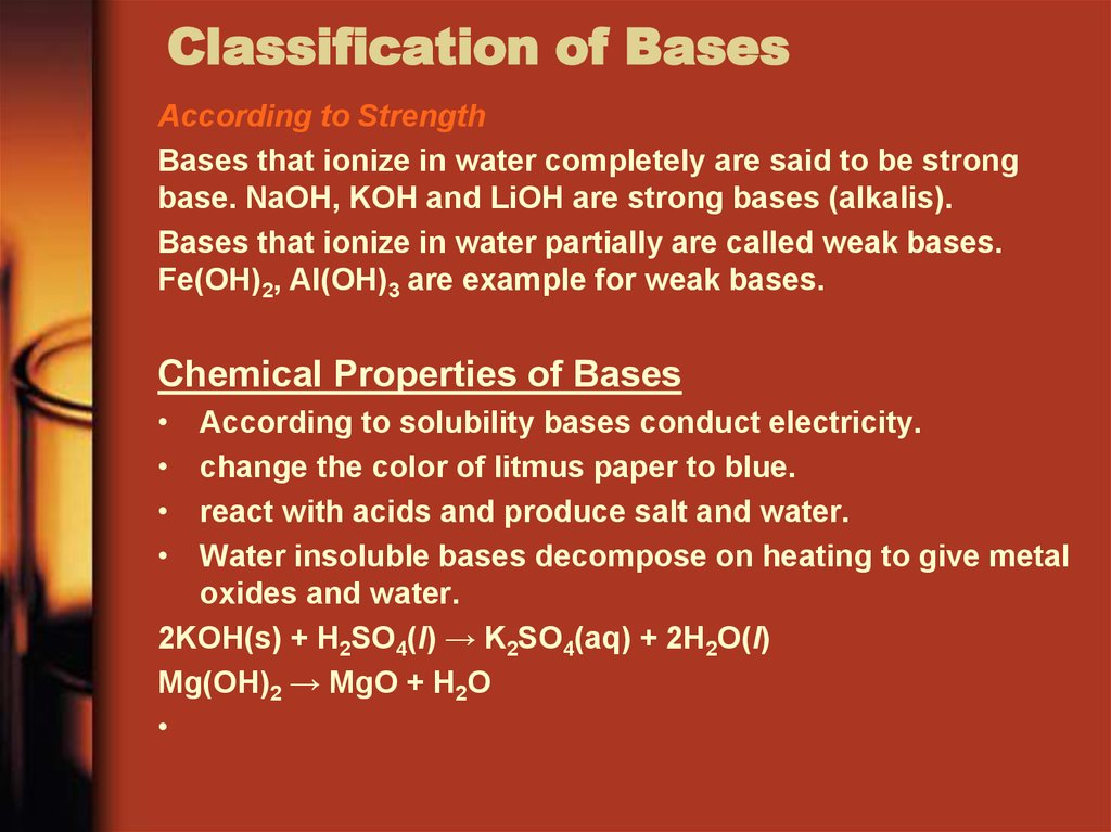 Classification of Bases