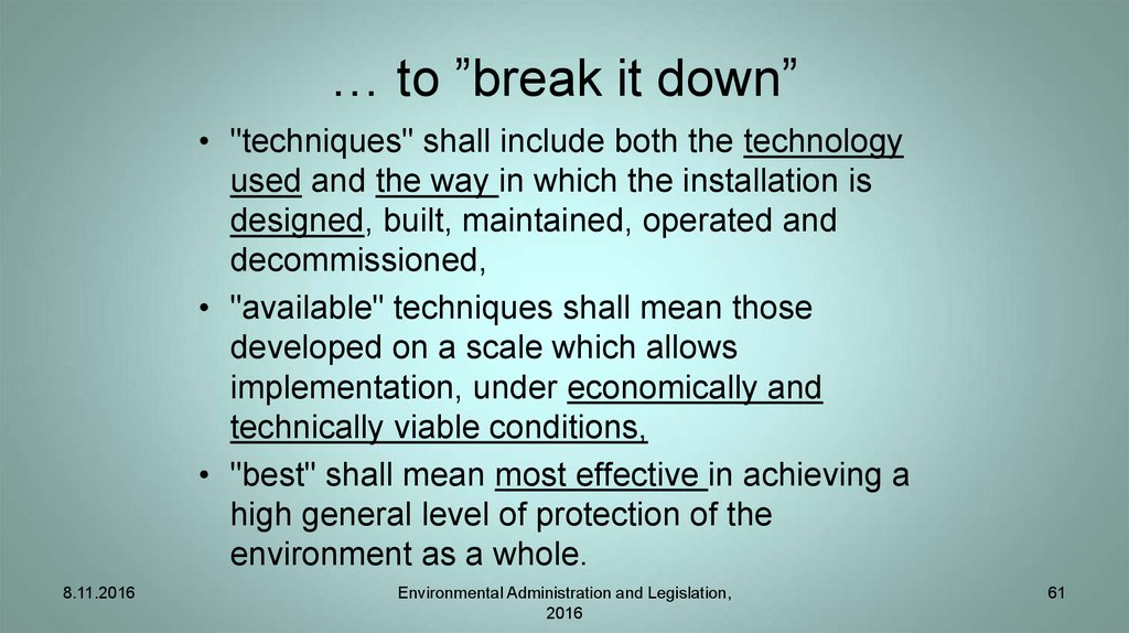 "… to ""break it down"""