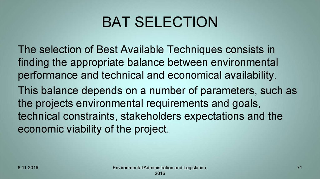 BAT SELECTION