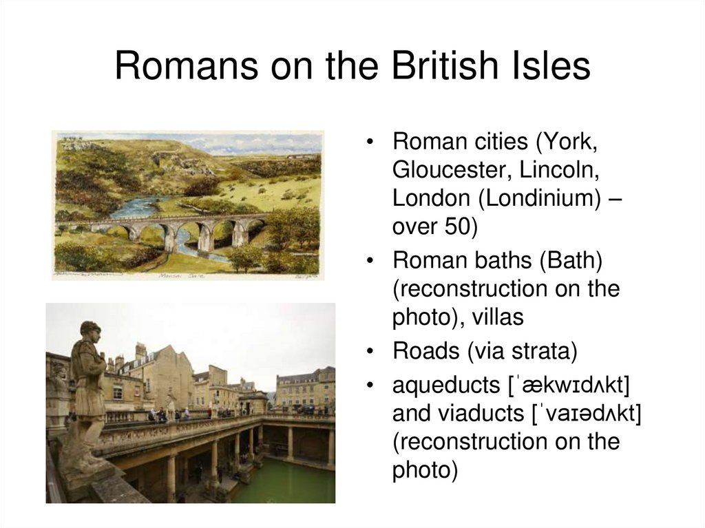 Romans on the British Isles