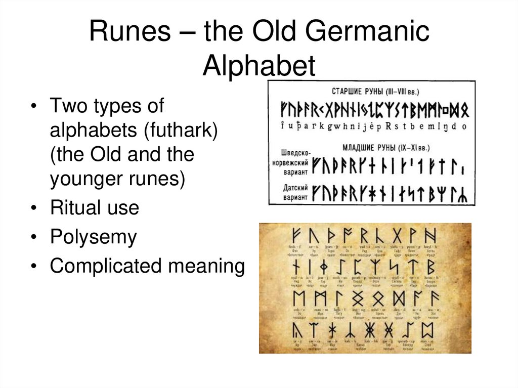 Runes – the Old Germanic Alphabet