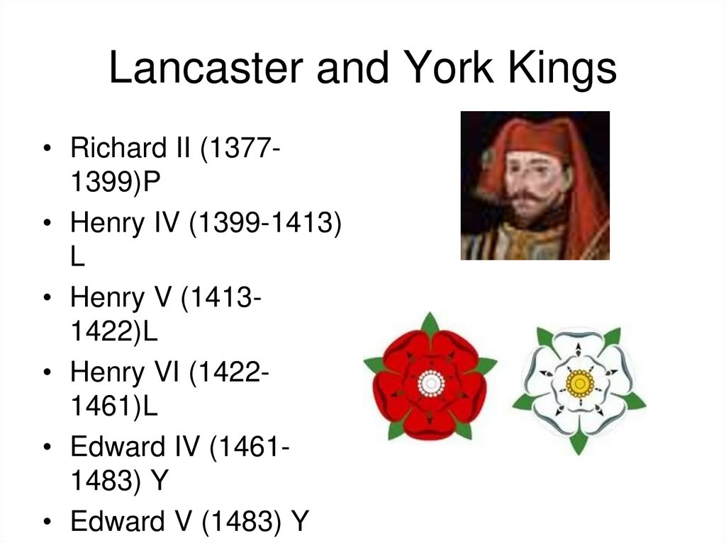 Lancaster and York Kings